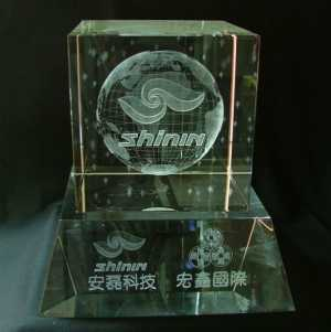 3D Laser Crystal Engraving (3D-Laser-Gravur Crystal)