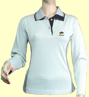 Silica Energy Women`s Polo Shirt with Ultraviolet Protection Factor of 50+