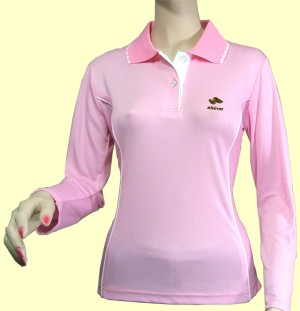 Silica Women`s Polo Shirt with Ultraviolet Protection Factor, Negative Ion and A (Silice Polo femme avec Ultraviolet Protection Factor, Negative ion et une)