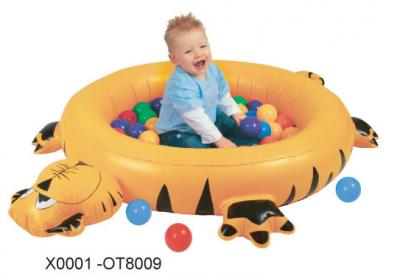 INFLATABLE TIGER BALL PIT W/Φ60mm PLAY BALL x 50 (п)