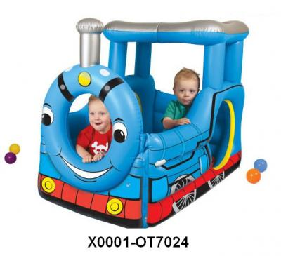 INFLATABLE EXPRESS TRAIN BALL PIT W/50 BALLS (AUFBLASBARE EXPRESS TRAIN Ball Pit W/50 BALLS)