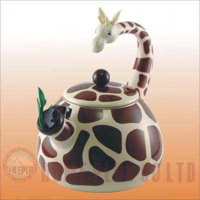 Enamel Teakettle--Giraffe (Emaille Teekessel - Giraffe)