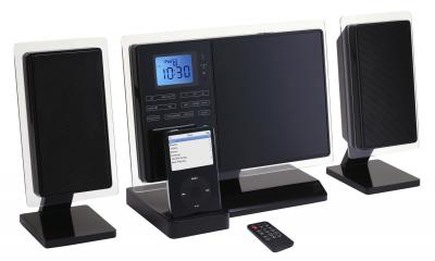 Vertical CD Micro System with PLL Radio and i-Pod Docking (Vertikal-CD-Micro-System mit PLL Radio und i-Pod Docking)
