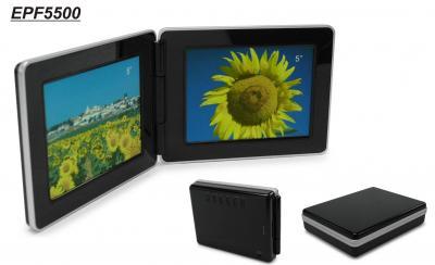 Portable Electronic Picture Frame Foldable, Dual 5 inches Anlog TFT Panel (Портативные электронные Picture Frame складная, Dual 5 дюйма Anlog TFT панель)