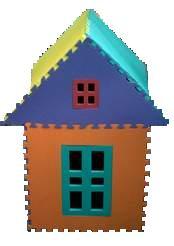 EVA puzzled house (EVA озадачило дома)